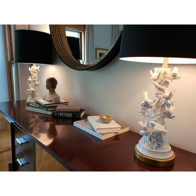 Mid-Century Modern Marbro Faux Bois, Blanc De Chine Table Lamps - a Pair For Sale - Image 3 of 12