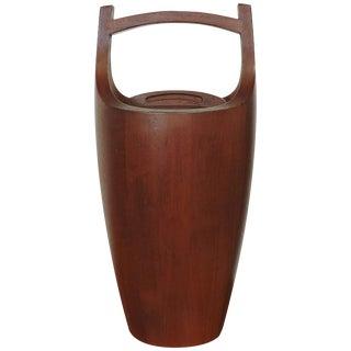Large Quistgaard Danish Modern Teak Ice Bucket for Dansk Designs For Sale