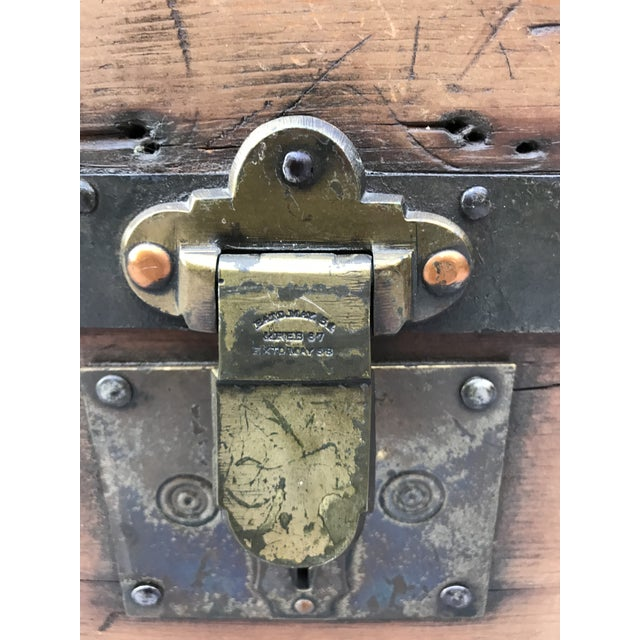 This is an amazing trunk from the 1850-60's! (You can see the dates when you enlarge the latching hardware.) It is made of...