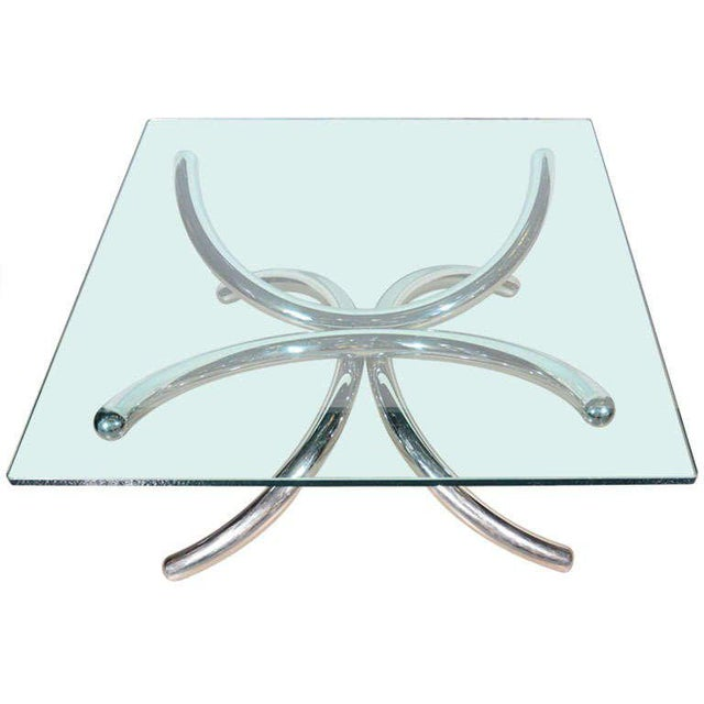 Abstract Italian Mid-Century Modern Coffee Table with Sculptural Base Design For Sale - Image 3 of 13