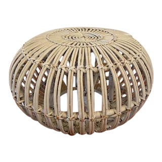 Franco Albini Rattan Stool For Sale