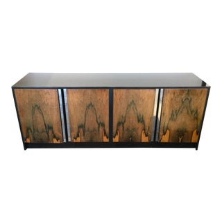 20th Century Modern Lacquered Wood Console Table