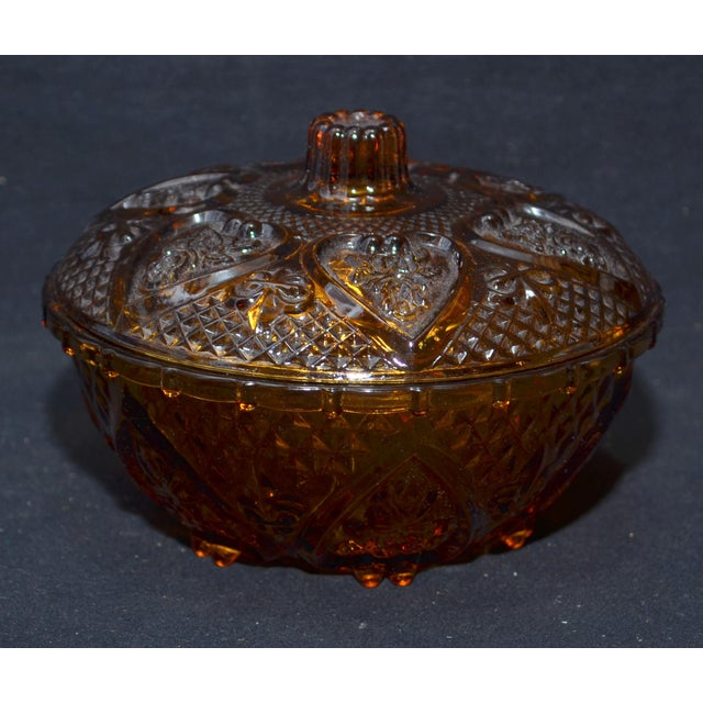 Anchor Hocking Renaissance Amber Glass Covered Dish - Image 7 of 7