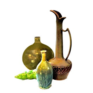 Mid Century Ceramic Art Studio Vases Planter & Ewer - Set of 4 For Sale