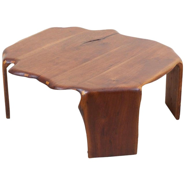 One of a Kind James Monroe Camp Studio Coffee Table in Walnut, Usa, 1975 For Sale