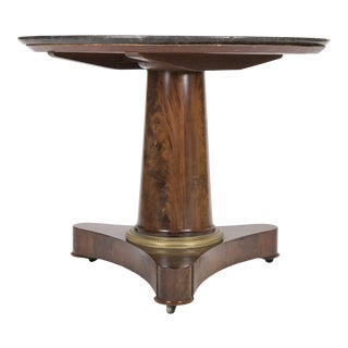 19th Century English Marble Top Center Table For Sale