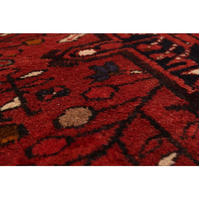 Type of Rug: Gharajeh Vintage Persian Rug Country of Origin: Iran Age: Circa 1970s Condition: Excellent / Normal signs of...