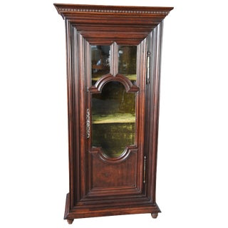 Early 19th Century European Oak Curio Display Cabinet Vitrine Bookcase For Sale