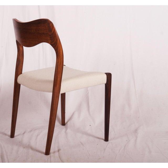 J.L. Møllers Møbelfabrik Model 71 Rosewood Dining Chairs by Niels O. Møller for JL Møllers, 1951 For Sale - Image 4 of 11