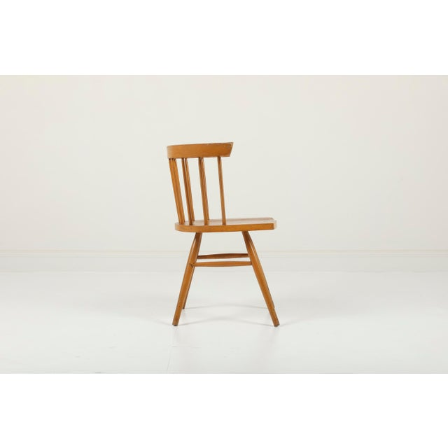 Knoll 1940s Vintage George Nakashima for Knoll Straight Chair For Sale - Image 4 of 11