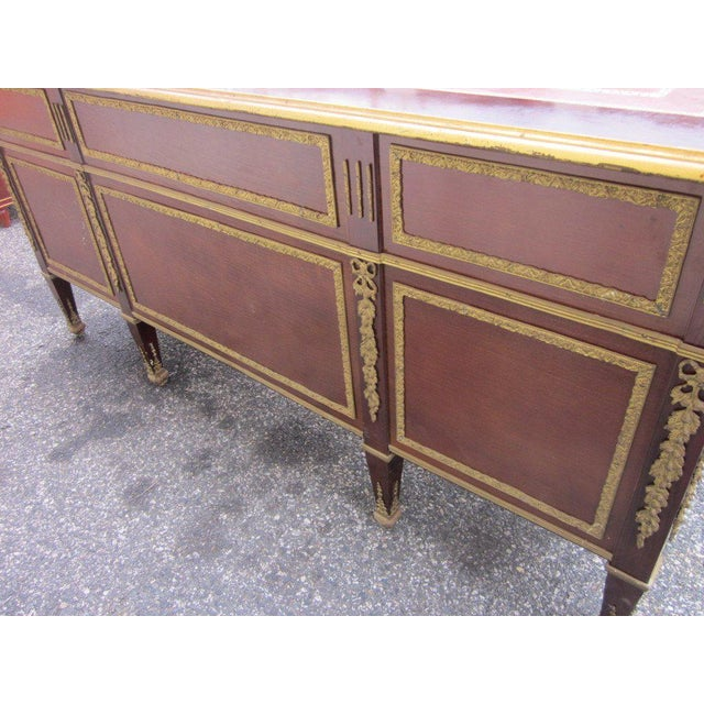 French Empire Style Desk with Leather Top For Sale - Image 9 of 10