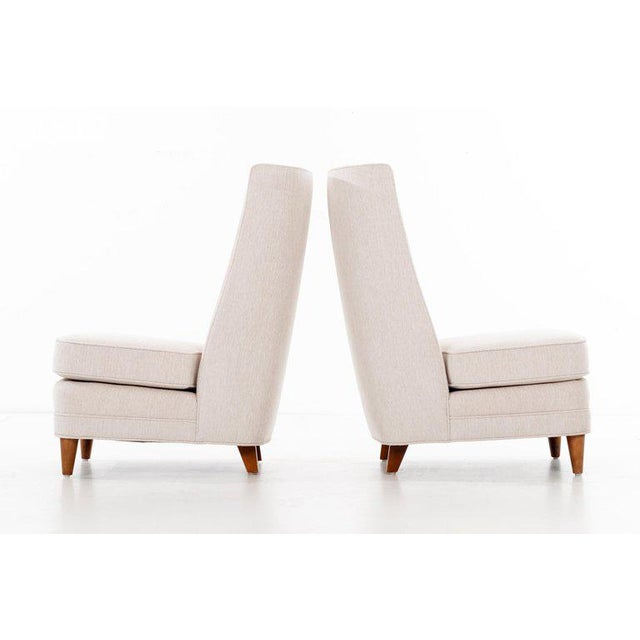 Paul Laszlo High-Back Lounge Chairs For Sale In New York - Image 6 of 12