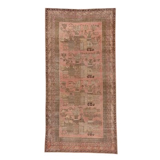 1930s Antique Pink Khotan Rug- 8′3″ × 16′5″ For Sale