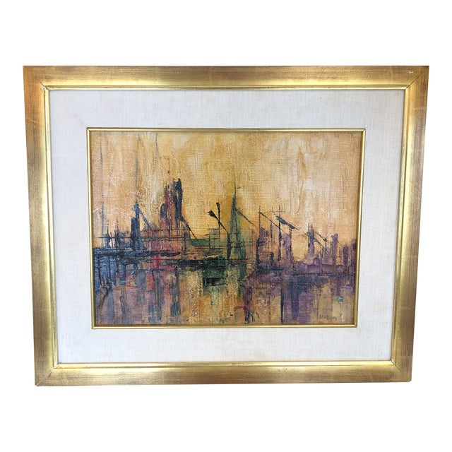 Abstract Dock Scene For Sale