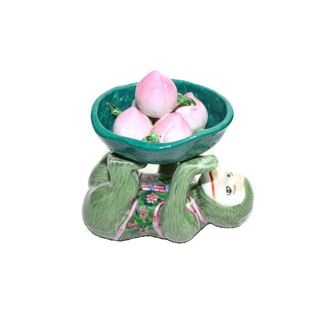 Ceramic Monkey Figurine Monkey Dish - Image 4 of 6