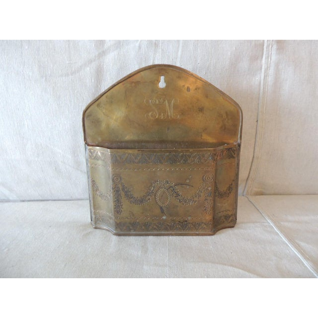 Vintage Brass Indian Embossed Letter Holder For Sale In Miami - Image 6 of 6