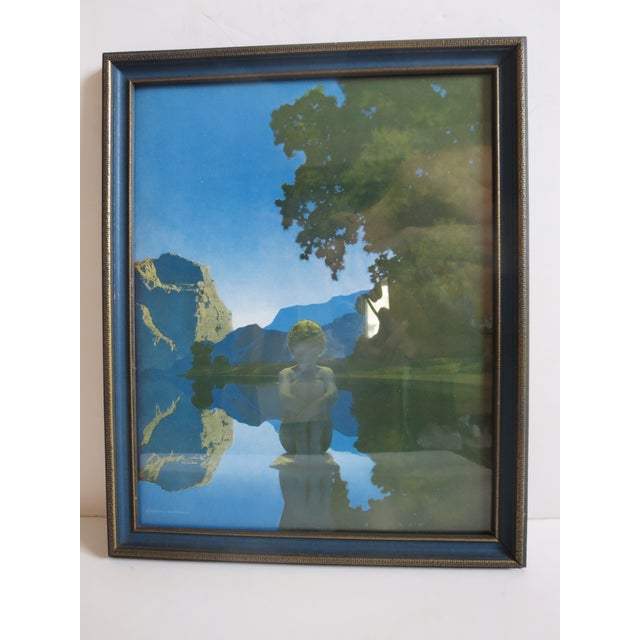 1920s Vintage Maxfield Parrish 'Evening' Reinthal & Newman Framed Print in Period Frame For Sale In New York - Image 6 of 8