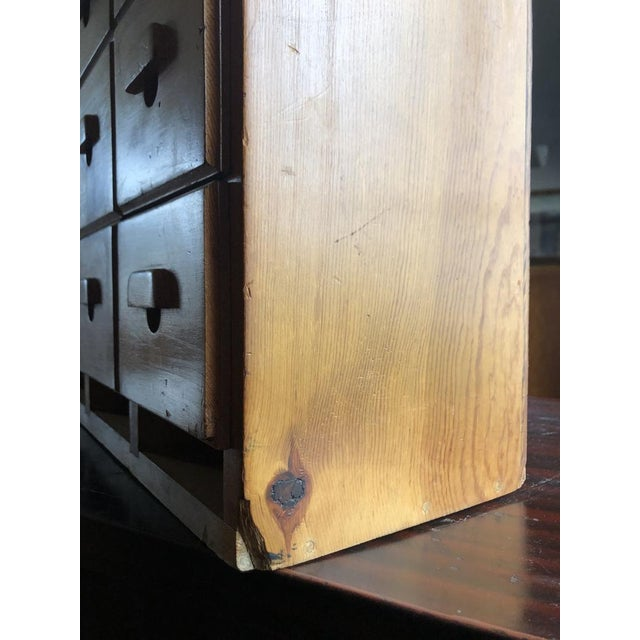 Brown Antique Multi Drawer Cabinet For Sale - Image 8 of 11