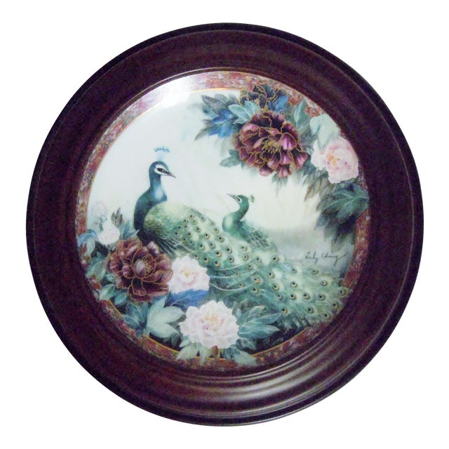 Van Hygan & Smythe Wood Frame With Lily Chang Plate For Sale
