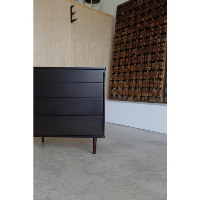 Mid-Century Modern Mid-Century Modern Edward Wormley for Dunbar Four-Drawer Ebony Rosewood Chest For Sale - Image 3 of 5
