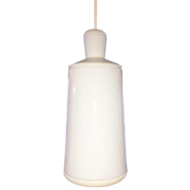 Small White Ceramic Ciocco Pendant Lamp For Sale - Image 4 of 4