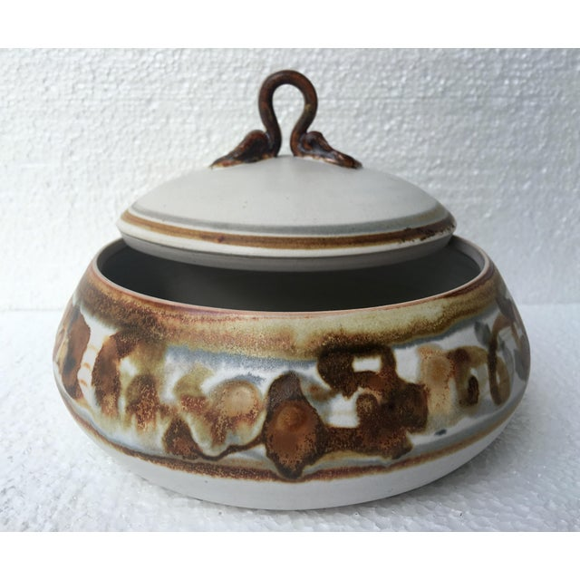 Ceramic Vintage Studio Pottery Lidded Dish For Sale - Image 7 of 7