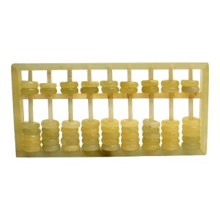 Chinese Jade Serpentine Abacus For Sale