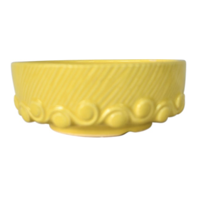 Vintage McCoy Yellow Pottery Bowl For Sale