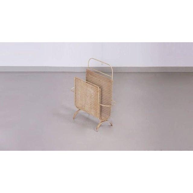 Mid-Century Modern Mathieu Matégot Folded Magazine Stand For Sale - Image 3 of 9