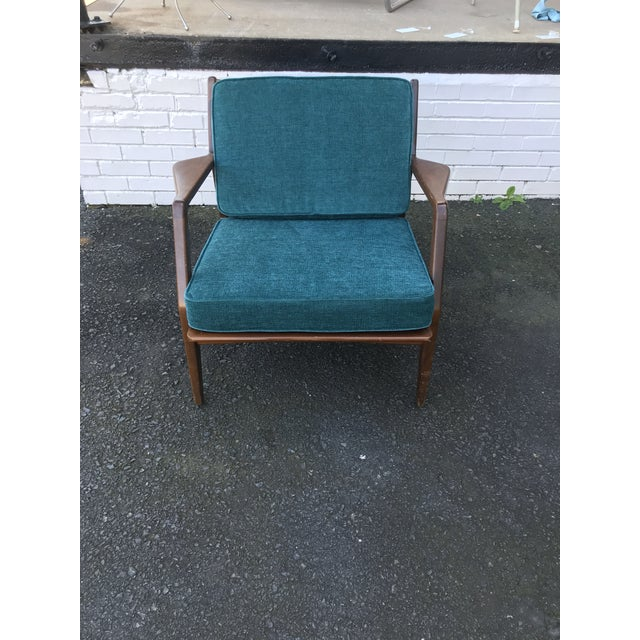 Absolutely gorgeous MCM IB Kofod Larsen for Sellig Teak lounge chair with BRAND NEW FOAM, UPHOLSTERY AND STRAPPING. This...