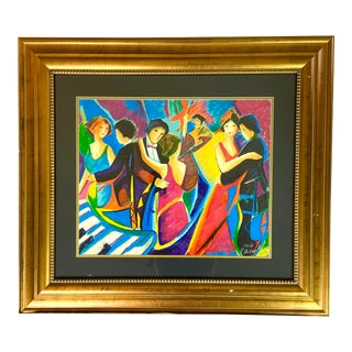 """""""The Tango Club"""" Serigraph by Phillip Maxwell For Sale"""