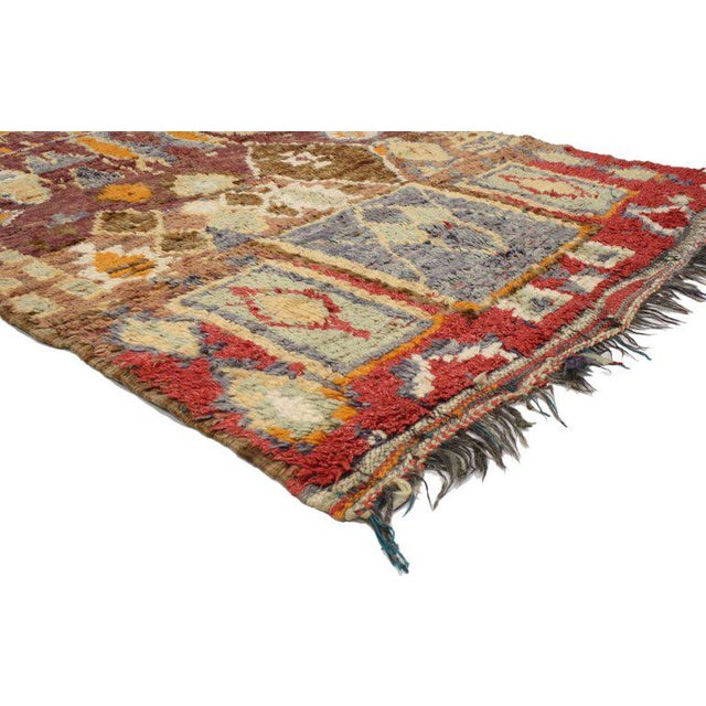 Boho Chic Vintage Berber Moroccan Rug with Modern Tribal Style For Sale - Image 3 of 5