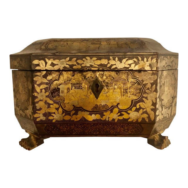 19th Century Chinese Tea Box For Sale