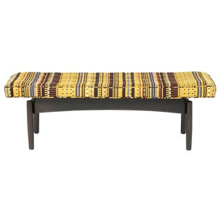 Jens Risom Style Maharam Upholstered Bench For Sale