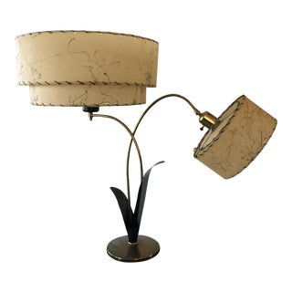 Majestic Two Armed Mid-Century Table Lamp