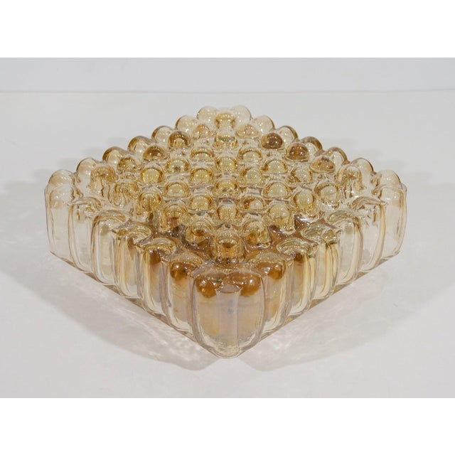 1960s Bubble Amber Tone Flush Mount For Sale - Image 5 of 8