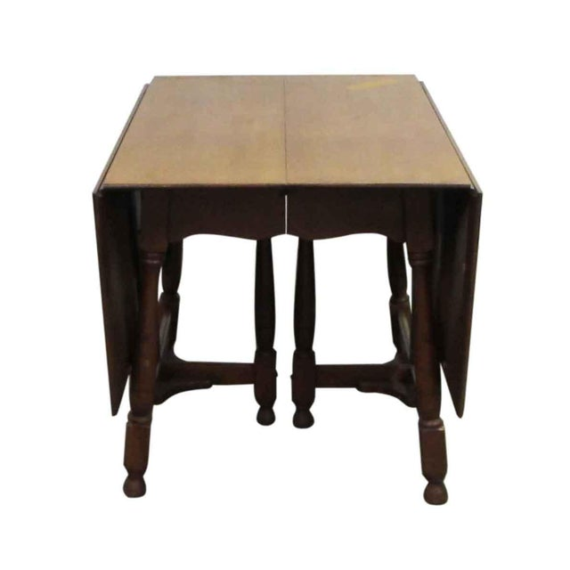 Antique Cherry Gate Leg Table For Sale - Image 5 of 7