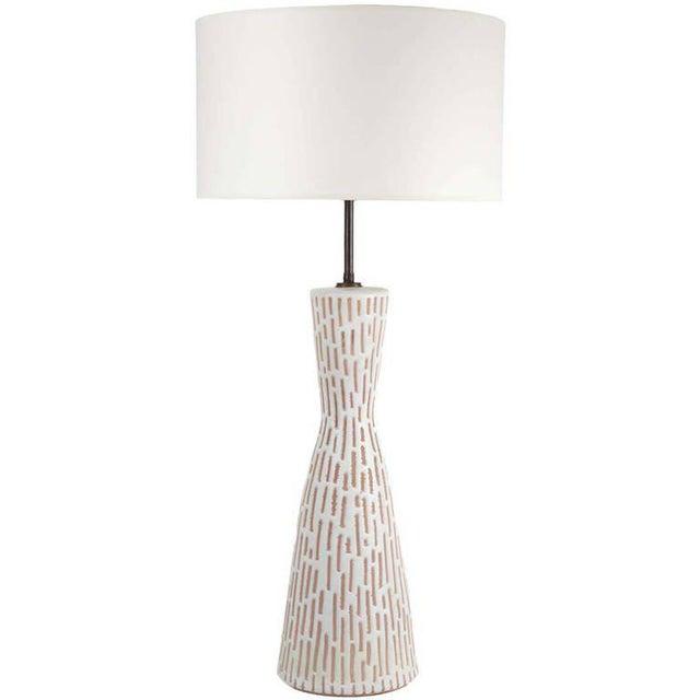 White Raymor Italian Ceramic Table Lamp For Sale - Image 8 of 8