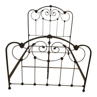 Anthropologie Wrought Iron Queen Bed For Sale