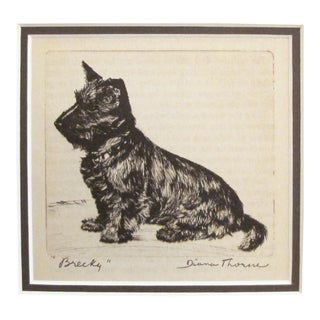 "1936 American Diana Thorne Dog Portrait, ""Brecky"""
