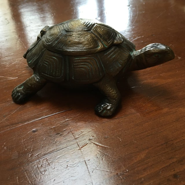 Austrian Gilt Metal Turtle Ashtray - Image 5 of 7