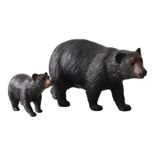 Mid-Century Breyer Molding Company Bear Figurines - a Pair For Sale