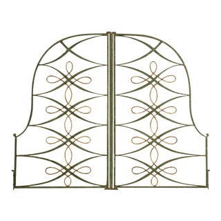 Original Vintage French Iron and Steel Gates/Fire Screens - a pair For Sale