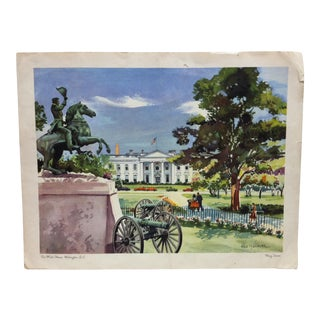 """The White House"" Print by Mary Stover For Sale"