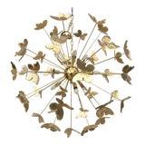 Image of 24 Karat Gold Butterfly Sputnik Chandelier For Sale