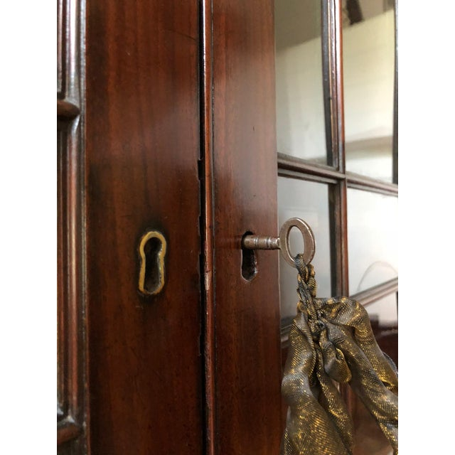 George III Style Mahogany Bookcase Cabinet For Sale - Image 11 of 13