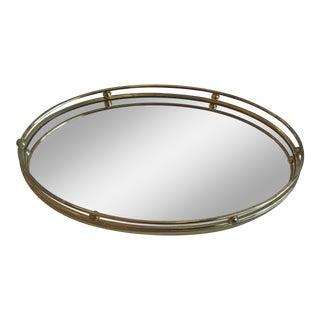 Vintage Mid Century Modern Hollywood Regency Vanity Mirror Tray For Sale