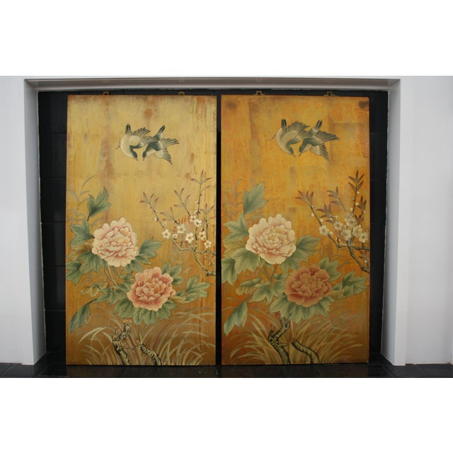 Vintage Decorative Chinese Chinoiserie Wall Panels, a Pair For Sale - Image 13 of 13