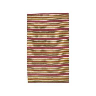 Banded Kilim Tribal Rug - 6′10″ × 11′4″ For Sale