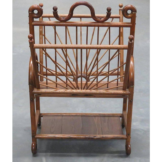 Victorian Oak Magazine Rack For Sale - Image 4 of 10